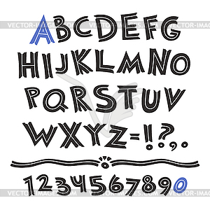 Cartoon Retro Schrift - Vektor-Illustration
