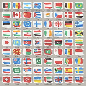 Set Welt-Staaten-Flags - Vector-Clipart / Vektor-Bild