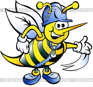 Handgezeichnete eine Glückliche Arbeitsbienen- - Klipart