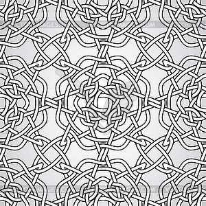Celtic seamless pattern - schwarzweiße Vektorgrafik