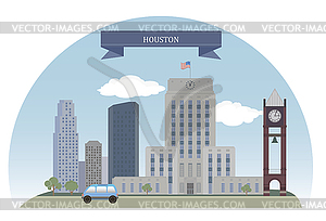 Houston, USA - Vektorgrafik-Design