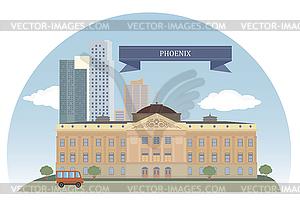 Phoenix, USA - vektorisiertes Clip-Art