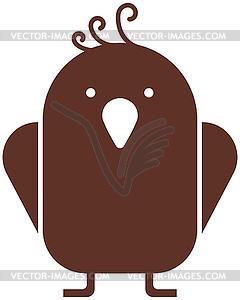 Vogel-Symbol - Stock Vektor-Clipart