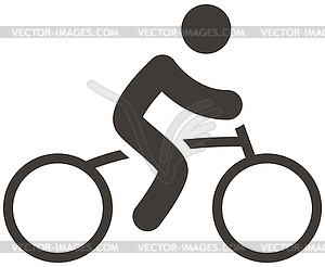Radfahren Symbol - schwarzweiße Vektorgrafik