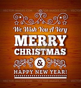 Weinlese-frohe Weihnachten Hintergrund - Stock Vektorgrafik