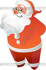 Weihnachtsmann mit Brille lächelnd - Vektorgrafik-Design