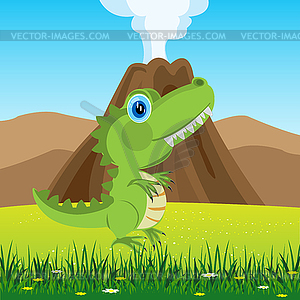 Dinosaurier auf Lichtung - Stock Vektorgrafik