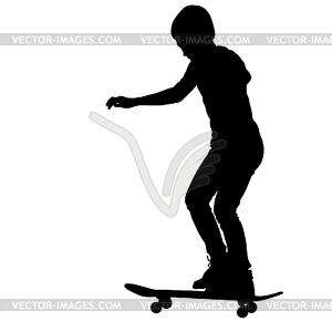 Skateboarder Silhouette. - Vector-Clipart / Vektor-Bild