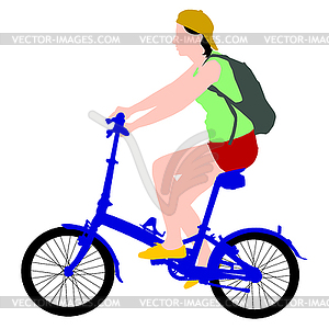 Silhouette der Radfahrer männlich. - Vector-Clipart EPS