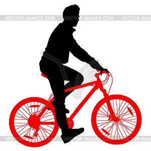 Silhouette der Radfahrer männlich. - Vektorgrafik-Design