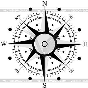 Schwarz Windrose. - Vektorgrafik-Design