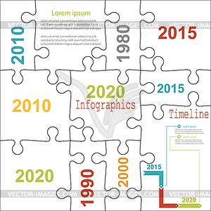 Puzzle infographic template