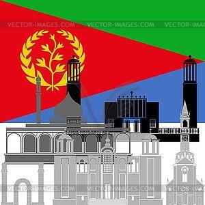 Eritrea - Vektorabbildung