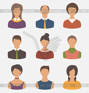 Verschiedenen männlichen und weiblichen Benutzer Avatare - Vector-Clipart / Vektor-Bild