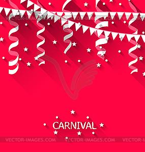 Holiday Hintergrund mit hängenden Wimpel für - Vector-Clipart EPS