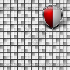 Abstrakte Vorlage mit Schild - farbige Vektorgrafik