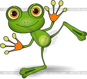 Grüner Frosch - Vektorgrafik