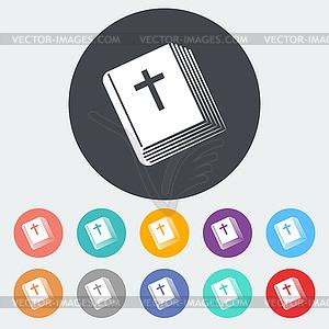 Bibel einzelnes Symbol - Vektor-Clipart EPS
