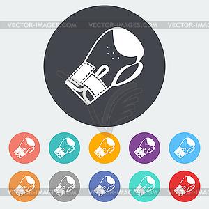 Icon flache Boxhandschuhe - farbige Vektorgrafik