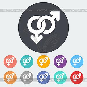 Homosexuell Zeichen - Royalty-Free Clipart