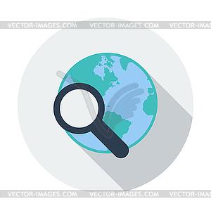 Die globale Suche einzelnes Symbol - Vector-Clipart / Vektor-Bild