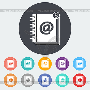 Kontakt Buchen einzelnes Symbol - Klipart