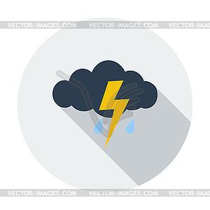 Sturm Flach Symbol - Stock-Clipart