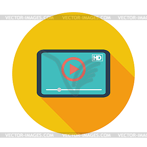 Video-Player-Symbol - Royalty-Free Clipart