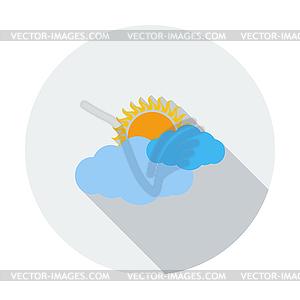 Wetter-Symbol. Sonne und Wolken - Vector-Clipart / Vektor-Bild