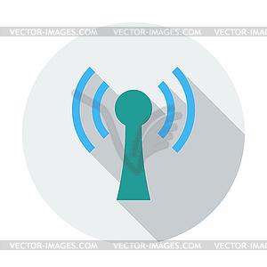 Drahtlose einzigen flachen icon - Vektor-Clipart / Vektorgrafik