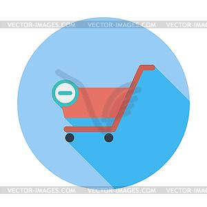 Cart flach einzelnes Symbol - Royalty-Free Vektor-Clipart
