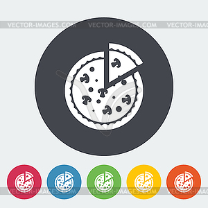 Pizza flach icon - Stock Vektor-Clipart