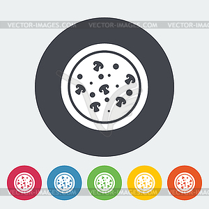 Pizza flach icon - vektorisiertes Clip-Art