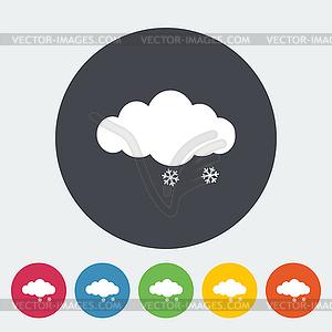 Schnee-Symbol - Vektorabbildung