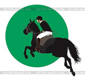 Pferdesport-Design - Vektor-Clipart EPS