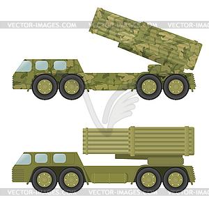 Militär-Raketenwerfer - Vektor-Clipart / Vektorgrafik