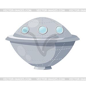 Fantastische Raumschiff - UFO -. illus - Vektor-Clipart / Vektor-Bild