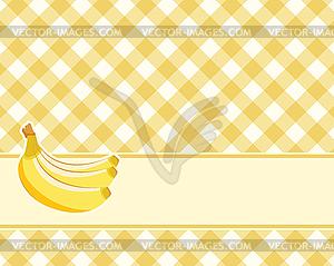 Checkered gelben Hintergrund mit Bananen. . - Vector-Clipart EPS