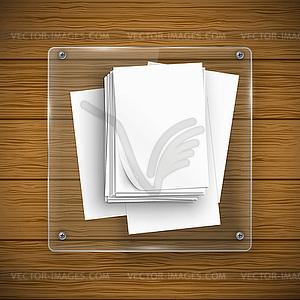 Glas-Rahmen und Holzstruktur - Royalty-Free Clipart