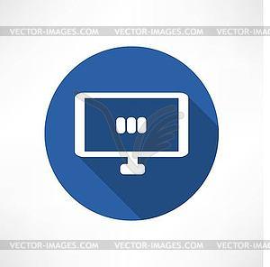 Mediensatz in Monitorsymbol - vektorisiertes Clipart
