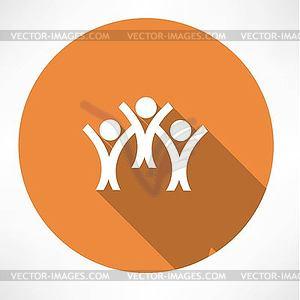 Glückliche Menschen Symbol - Vector-Clipart