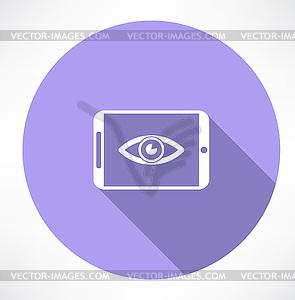 Smartphone mit Augensymbol - Vektorgrafik-Design