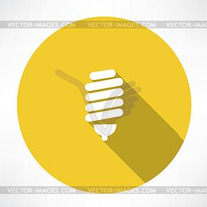 Energiesparlampe Symbol - Vektorgrafik-Design