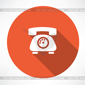 Festnetz-Telefon-Symbol - Vektor-Skizze