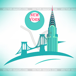 New York Chrysler Building Symbol - Vector-Clipart / Vektor-Bild