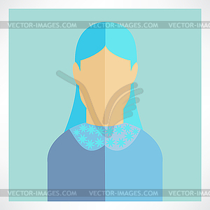 Flach Frau Symbole - Vector-Illustration