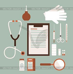 Schreibtisch Doktor - Stock-Clipart