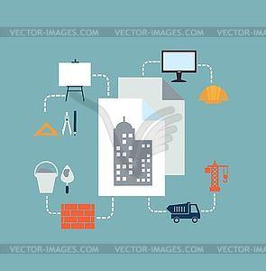 Architekt Zeichnungen - Vektor-Clipart / Vektor-Bild