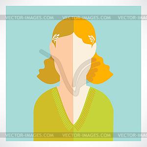 Flach Frauen Symbole - Klipart