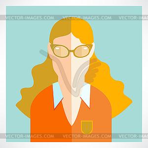 Flach Frau Symbole - Royalty-Free Clipart